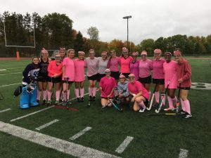 Field Hockey athletes wore all pink to raise money for breast cancer PHOTO / Weston Field Hockey