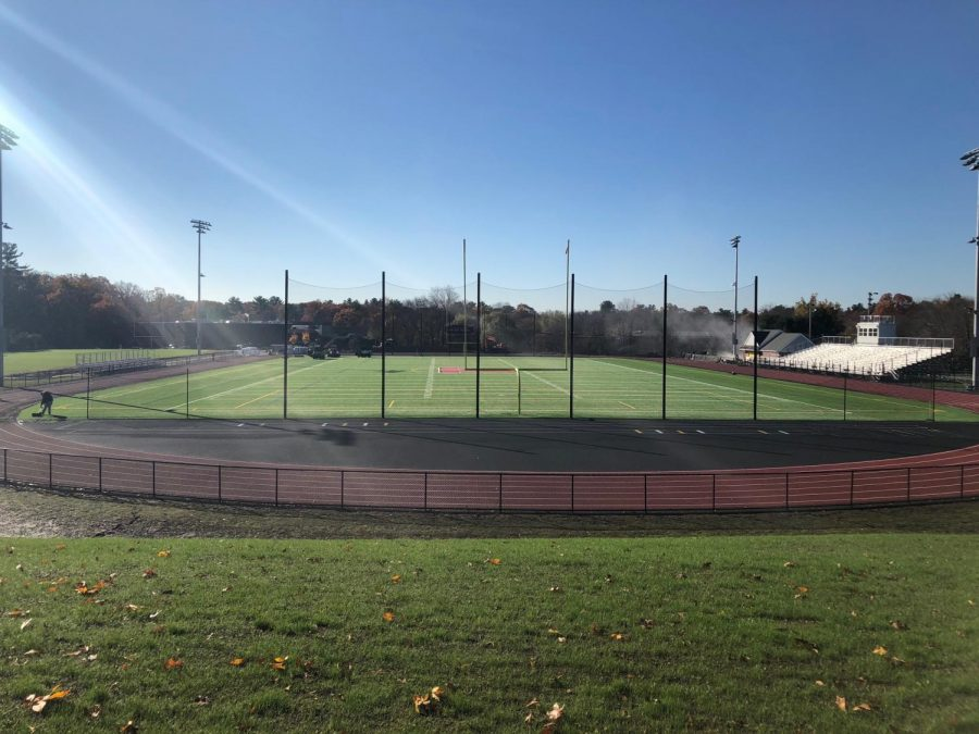 The+sun+gazes+over+the+newly+renovated+Proctor+Track+and+Field.