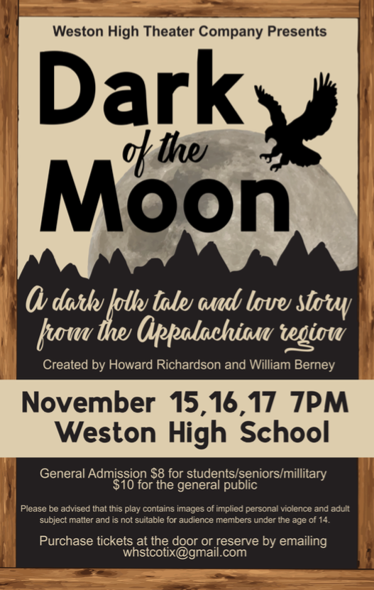 A flyer promoting the fall play.