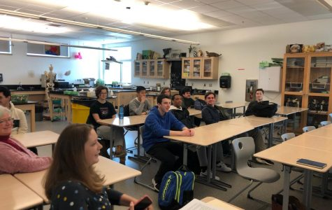 Students from SEA club listened to a presentation from a Weston Sustainability Committee member.