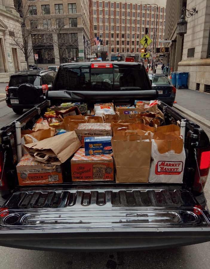 The truckload of food delivered to the NECHV the day before Thanksgiving.