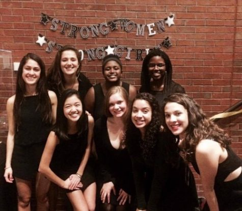 2015 WHS graduate Jackie Chen with her a cappella group Essence, after performing at an event. PHOTO/unknown