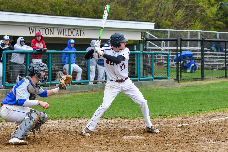 Senior Max Barsamian hit a three run home run against Ashland. PHOTO//Lee McCanne