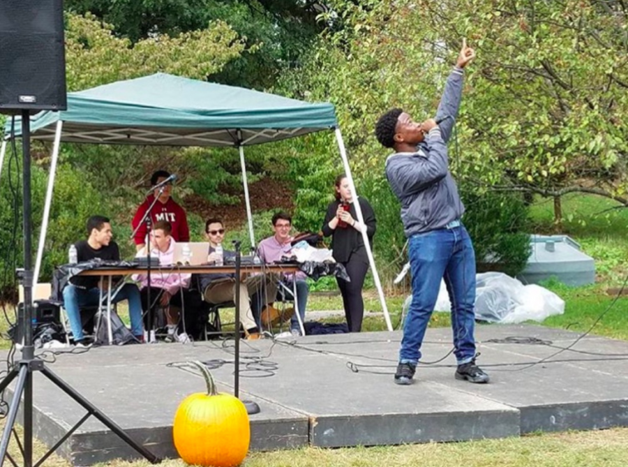 Eche Onwuama performs at the Pumpkin Fest 2017