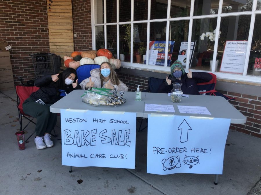 Animal Care Club holds bake sale fundraiser under COVID restrictions; photo credit.